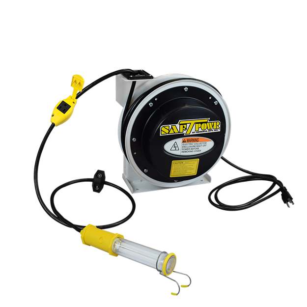 Picture of Stubby® II, 50ft. Industrial Grade Reel, with switch, with Tool Tap (in-line outlet) (4050-2670)